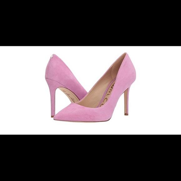 d62c814d1076b8 Sam Edelman Fiji Pink Suede Hazel Pumps